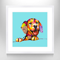 Stretched Canvas Painting With Dog Picture Painting On Canvas For Wall Decor
