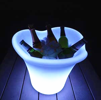 glazed ceramics flower pot touch plant piano led tower light