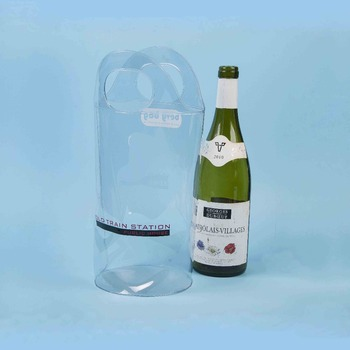 Eco-friendly durable cold resistance clear pvc wine bag XYL-I076