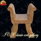 Yellow marble garden chair--YSM0010