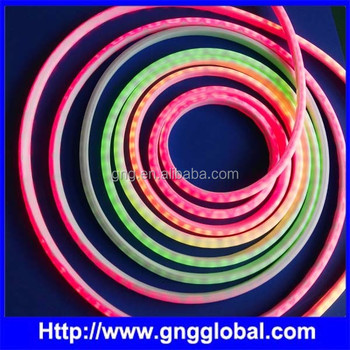 SMD5050 IC buil-in full color led type 60pixels per meter led neon light led neon flexible strip
