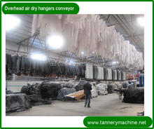 tannery machine for sheep leather 3.6' to 9' steel over head hooking hangers for leather