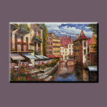 High quality Handpainted italy modern Venice oil painting for home decorative