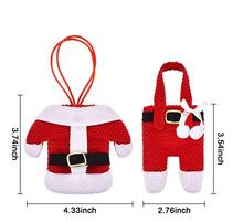 Santa Suit Christmas Dinner Flatware Holders Knife and Fork Bags Table Decoration A three sets of