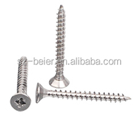 all size stainless steel flat head pozi driver chipboard screw DIN7505 stainless steel fastener