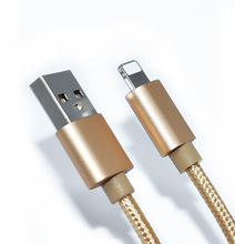 High Quality Gold Nylon Braided Micro USB 2.0 Cable for Iphone
