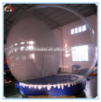 Hot selling giant christmas inflatable snow globe,inflatable snow tent, inflatable bubble lodge tent with factory price