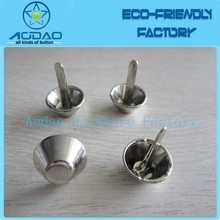 Decorative metal button studs for fabric
