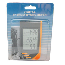 Indoor and Outdoor Digital hygrometer thermometer watch with 1m sensor wire