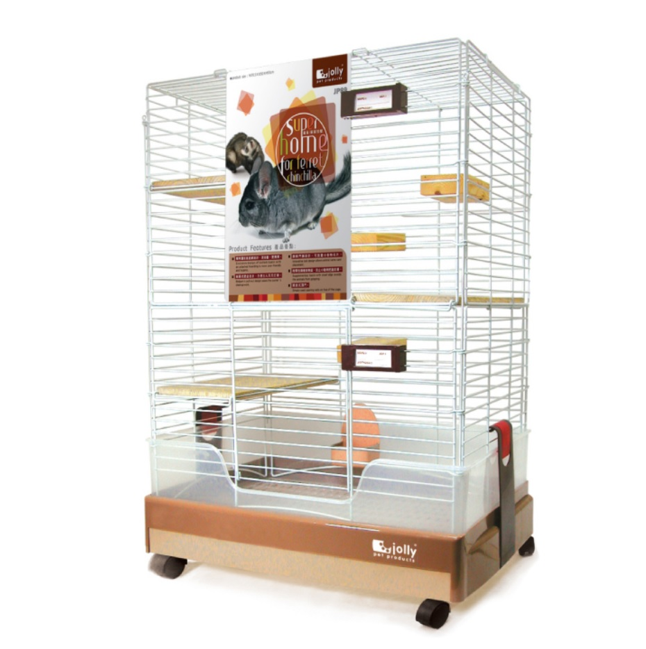 High Quality Movable Metal Chinchilla Cage Ferret Cage with Stand