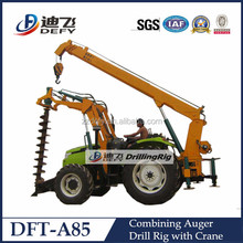 hydraulic portable pole hole digger with Crane