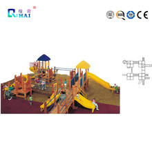 2016 Crazy outdoor playground amusement playschool slide kids slide for sale