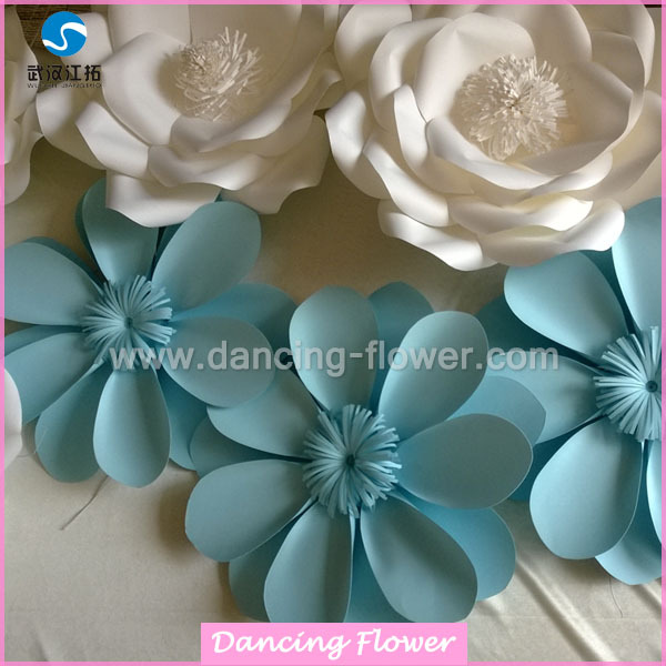 2018 new year design hot boutique paper flower wedding backdrop decorations flower