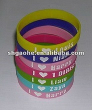 2012 charming Jesus promotional gift silicone wristband / 100% silicone wristband / Color filled silicone wristbands