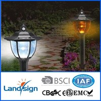 CiXi Landsign high quality monocrystal solar panel CE,ROHS led outdoor pir wall light