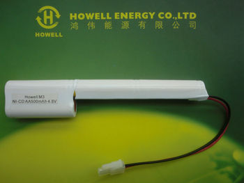 4.8v 500mah ni-cd aa battery pack