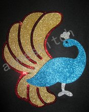 beautiful peacock glitter rhinestone