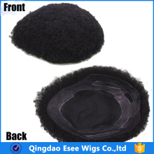 Wholesale human hair wig for men top quality men toupee afro curly