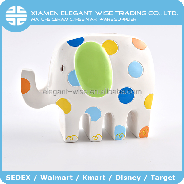 Cheap colorful elephant cartoon elephant piggy bank atm