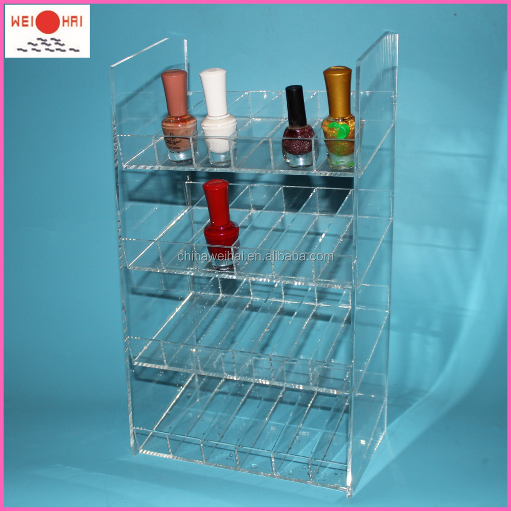 4Layers 96Bottles Clear Acrylic Nail Polish Station