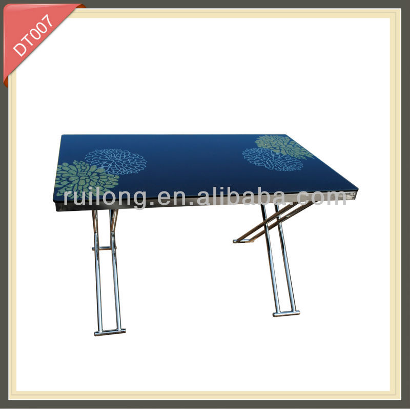 marble tempered glass stone top high gloss dining table