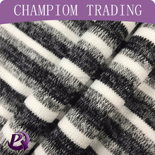 2017 spring and summer fashion rayon poly knitting melange stripe fabric