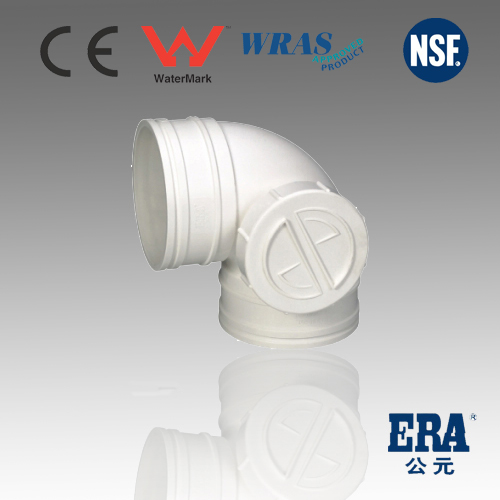 ERA Non-pressure 90 degree pvc elbow with dide port for Drainage