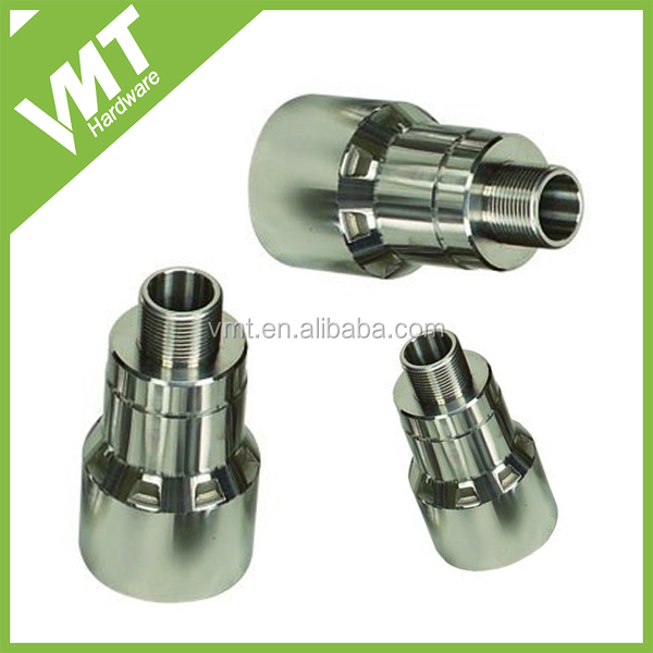 CNC turning reducing pipe fittings male threaded components