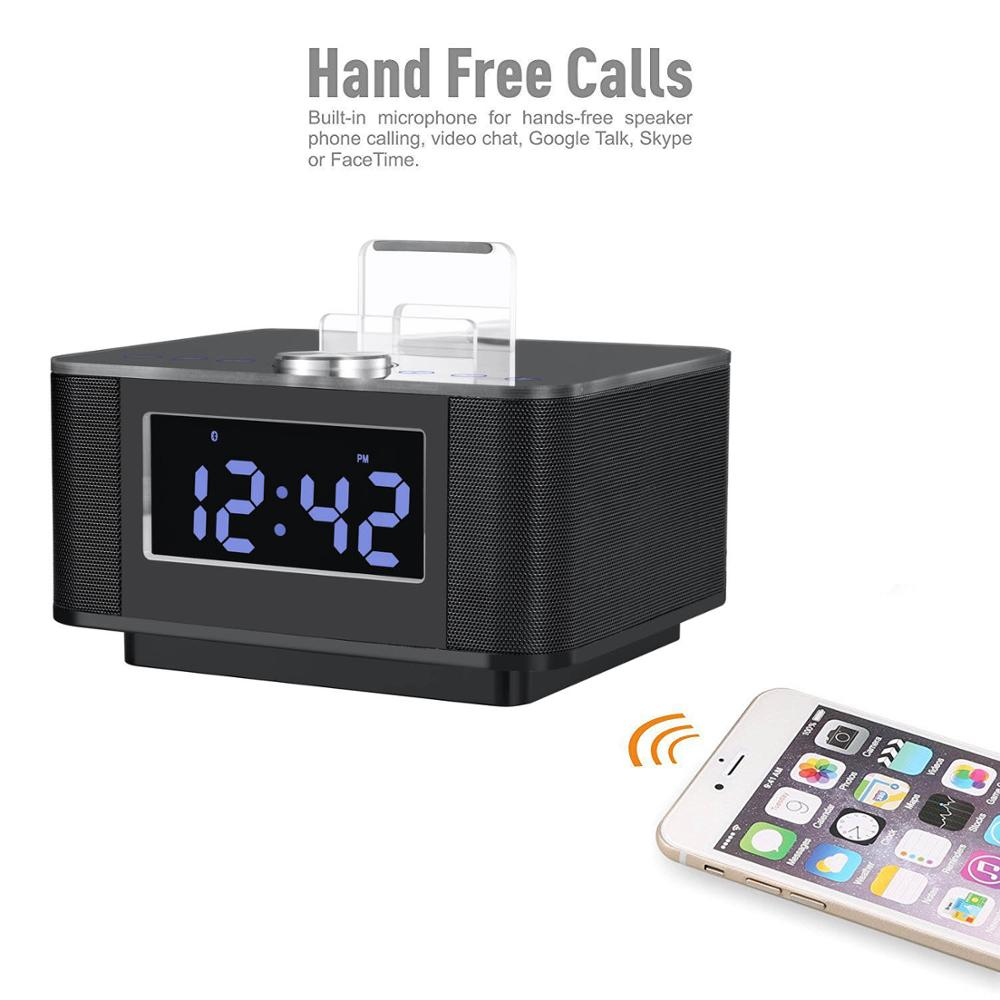 Smart Radio Alarm Clock Speaker with Smart Home Integration