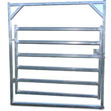 50x50mm RHS upright 6 bars galvanized sheet metal cattle panel gates