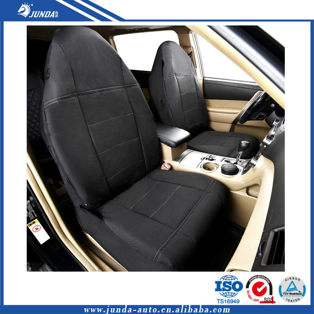 Italian black oxford Car Seat Covers vehicle seat covers