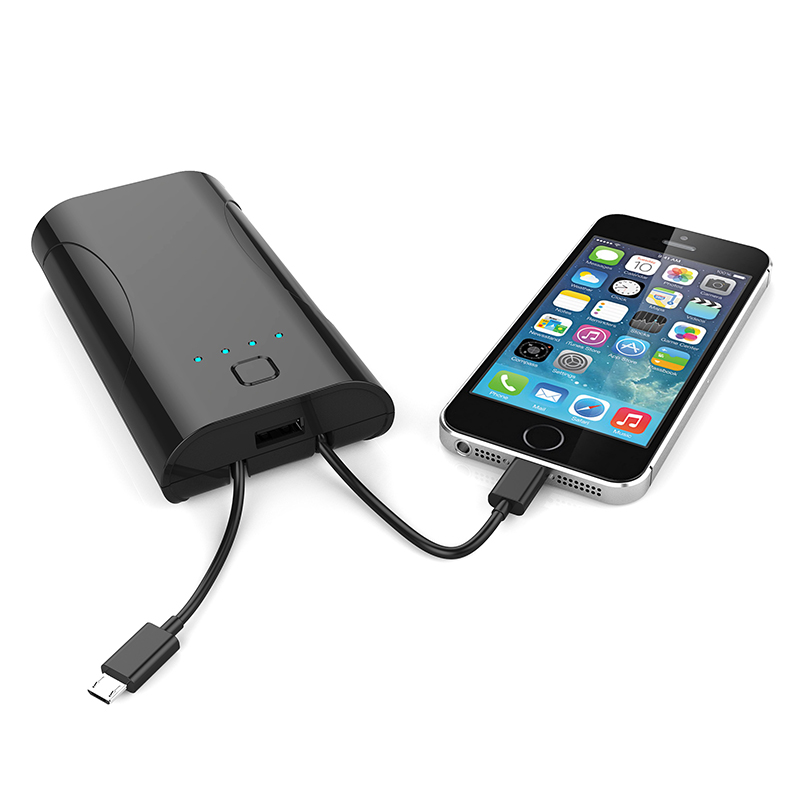 <strong>3</strong> in 1 5200mAh OEM portable battery charger power bank with 2 built-in cable for all mobile phones and tablets