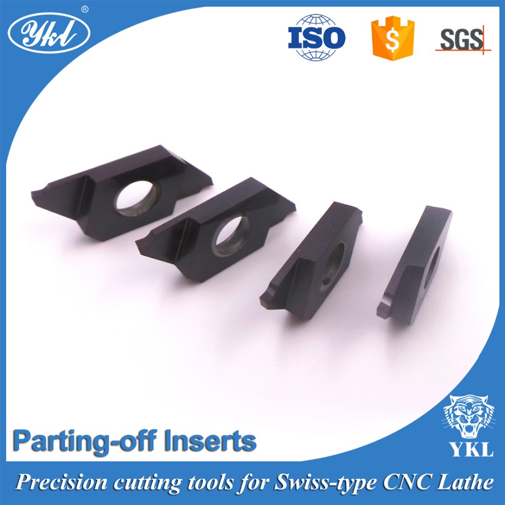 Model YKD08L100 Swiss type CNC cemented carbide inserts for small parts parting off