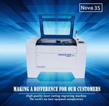 Thunder laser nova 35 paper wood acrylic fabirc co2 laser engraving cutting machine for sale