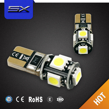 Lowest Price canbus color changing LED tail width lamp instrument lights led interior car light T10 W5W 5SMD 5050
