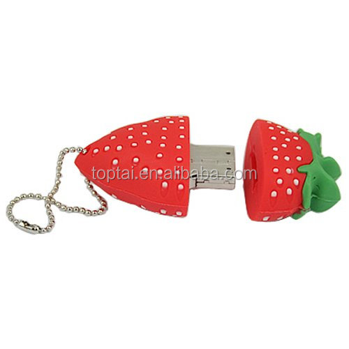 Red Strawberry 8GB Food Snack Dessert Shaped High Speed USB Flash Thumb Drive Memory Stick