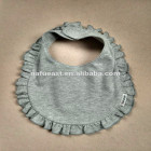 baby bib ruffle. cotton. no minimum. high quality. real factory. your brand.