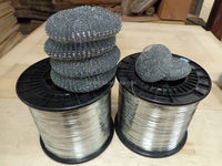 stainless steel spiral scourer/galvanised mesh scrubber/brass cleaning ball
