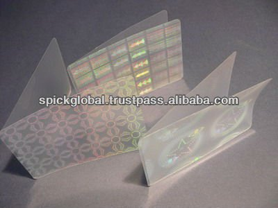 Thermal lamination Holographic Pouches for documents,cards