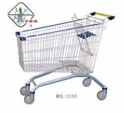 Metro Supermarket 210Litres Shopping Trolley Cart with Tente castors