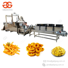 2017 Industrial Conveyor Gas Type Deep Fryer Chin Chin French Fries Peanut Groundnut Onion Frying Machine