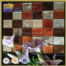 Flower pattern mosaic Square mixed colour glass mosaic