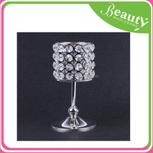 AD044 crystal candle holder tealight candle holder tall for wedding table centerpieces