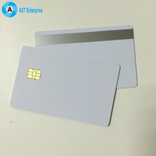 credit card size 2 track Hico silver blank magnetic stripe sle4442 PVC card ic card for payment
