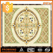 dignity and high quality beige marble waterjet floor medallions marble mosaic medallion