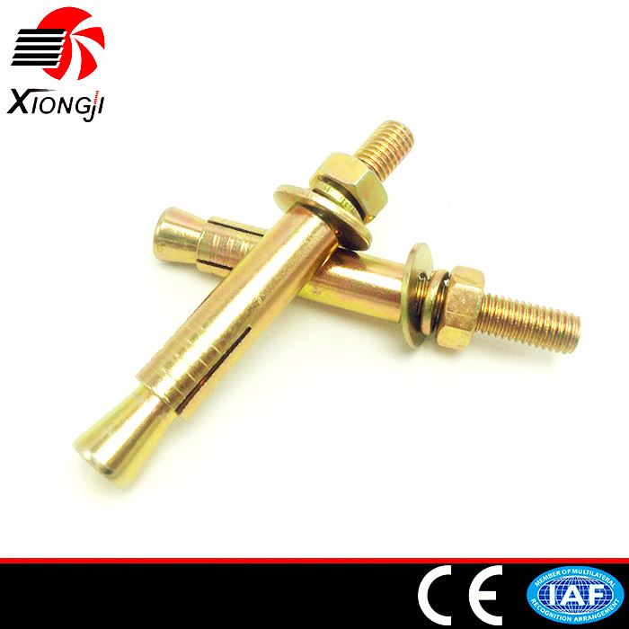 OEM High Strength SS316 Versatile Stone Vibration Carbon Steel Hilti Anchor Bolt / Concrete Through Bolt