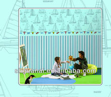 Fashion kids room wall decor wallpaper kids decorative wallpaper/ baby wallcoverings