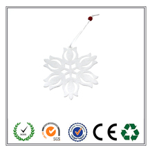 Factory Outlets Laser Cut snowflake hanging felt Christmas tree decoration with bead design