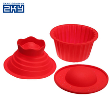Food Grade Big Top Heat Resistant Bake Tools Baking Maker Silicone Giant Cupcake Mold