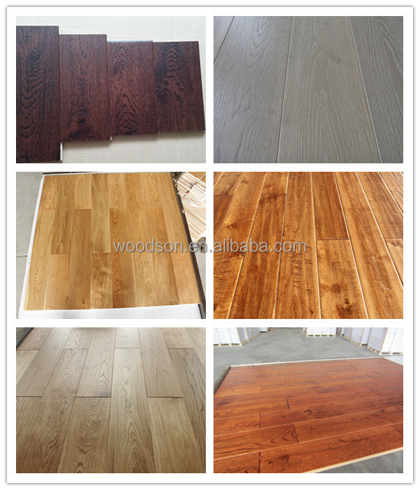 Antique Color Grey Color Oak Engineered Wood Flooring
